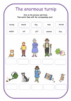 Interactive worksheet The enormous turnip