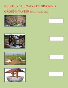 Interactive worksheet Ways of drawing ground water