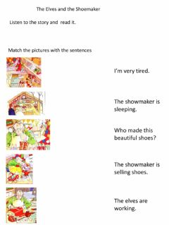 Interactive worksheet The Elves and the Shoemaker
