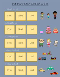 Interactive worksheet Order by adjective