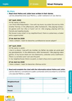 Ficha interactiva Page 2 - May-June Booklet