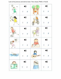 Interactive worksheet Present Continuous - Listening Activity