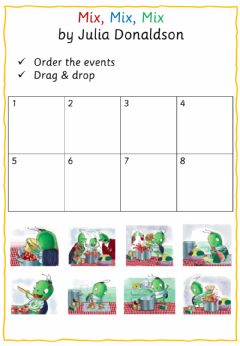 Interactive worksheet Mix, Mix, Mix - Order the events!