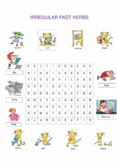 Interactive worksheet Past simple Irregular verbs word search