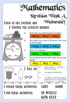 Interactive worksheet Revision Week A - Math - Wednesday