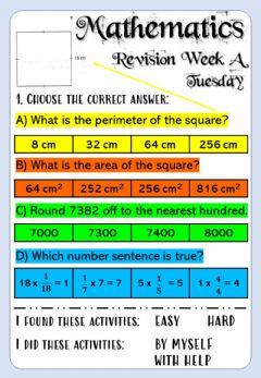 Ficha interactiva Revision Week A - Math 6 - Tuesday