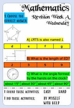 Ficha interactiva Revision Week A - Math 6 - Wednesday
