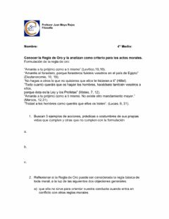 Interactive worksheet La regla de oro