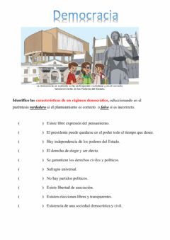 Interactive worksheet Democracia