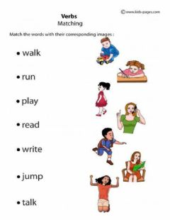 Interactive worksheet Verbs Matching
