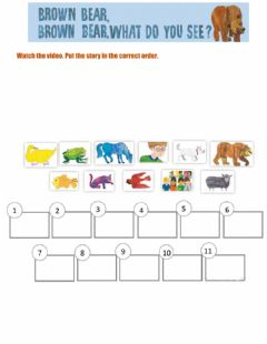 Interactive worksheet Brown bear, brown bear what do you see?