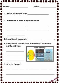 Interactive worksheet Sains tahun 4