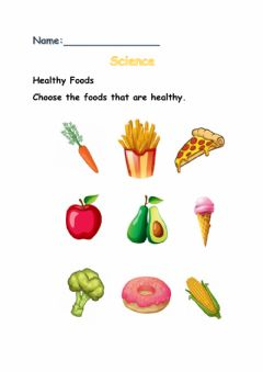 Ficha interactiva Healthy Foods