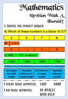 Ficha interactiva Revision Week A - Math 6 - Thursday