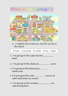 Interactive worksheet Where are you going? 2