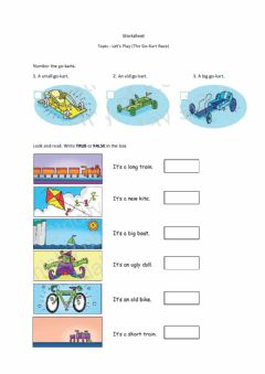 Interactive worksheet Let's Play (The Go-Kart Race)