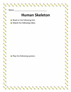 Interactive worksheet Human Skeleton