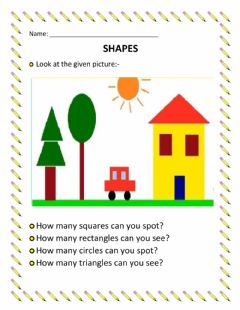 Interactive worksheet Finding Shapes