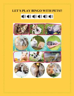 Interactive worksheet Pets bingo