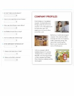 Interactive worksheet Company profiles