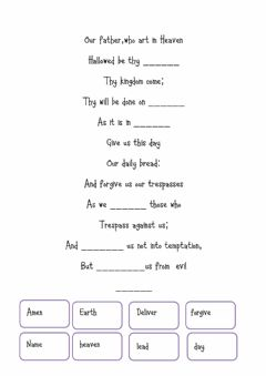 Interactive worksheet Our father