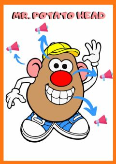 Interactive worksheet Mr Potato Head Revision