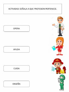 Interactive worksheet Profesiones