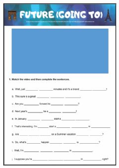 Interactive worksheet Future (Going to)
