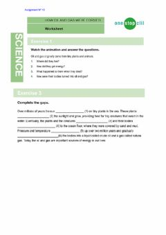 Interactive worksheet How oil and gas were formed