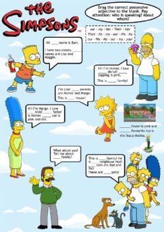 Ficha interactiva Possessive adjectives - Simpsons