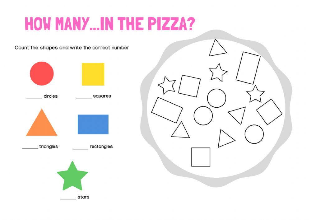 Shapes Online Exercise For 1st Grade