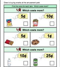 Interactive worksheet Which one costs more 1
