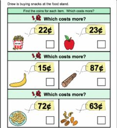 Interactive worksheet How much does it cost 2