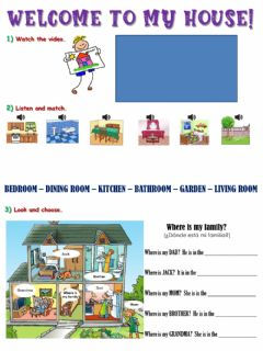 Interactive worksheet Welcome to my house