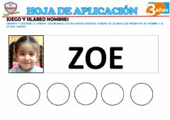 Interactive worksheet Silabeamos nombres