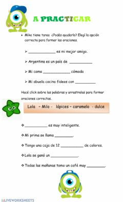 Interactive worksheet A practicas