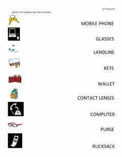 Interactive worksheet Everyday Objects