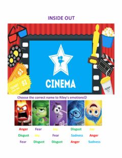 Ficha interactiva Inside out
