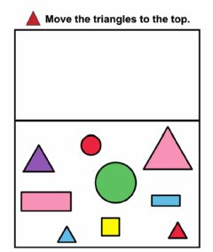 Interactive worksheet Shape Sorting: Triangles
