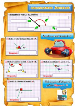 Interactive worksheet Ángulos