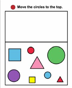Interactive worksheet Shape sorting: Circles