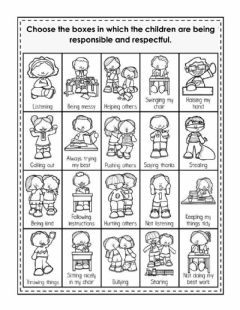 Interactive worksheet Responsibility and respect