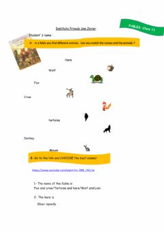 Interactive worksheet Intro to Fables