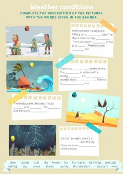 Interactive worksheet Weather conditions