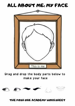 Interactive worksheet All About Me: My Face (Boy)