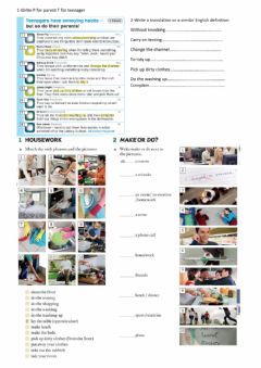Interactive worksheet Vocabulary make or do