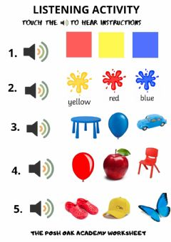 Interactive worksheet Listening Activity (Colours)