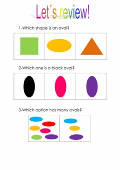 Interactive worksheet Oval