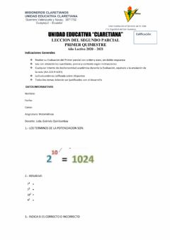Interactive worksheet Potenciacion
