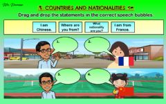 Interactive worksheet Where are you from? - What nationality are you? 3 (Drag and drop)